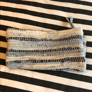 Sole society denim/blue clutch